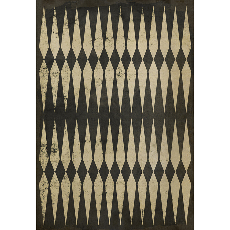 "Pattern 08 ""Backgammon"" Vinyl Floorcloth"