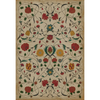 "Williamsburg Floral ""Abigail"" Vinyl Floorcloth"