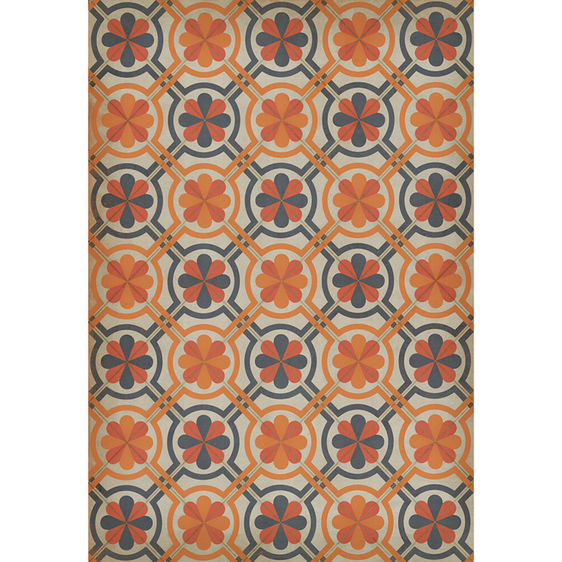 "Pattern 19 ""Newton"" Vinyl Floorcloth"