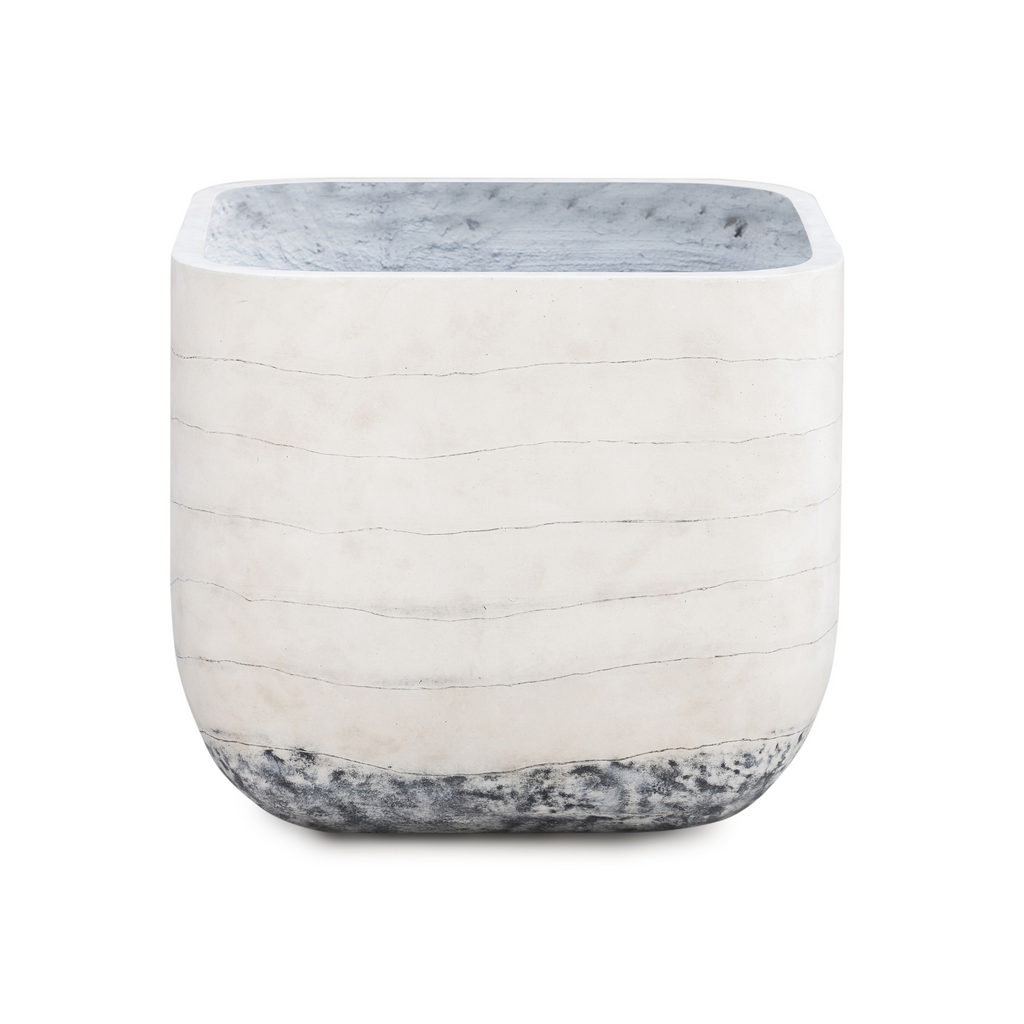Ingall Square Planter-Grey Ombre