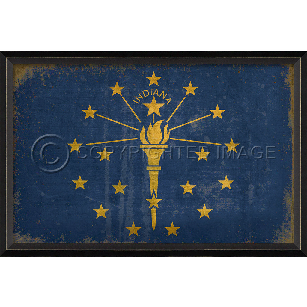 Indiana State Flag Wall Art