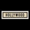 Hollywood Street Sign Wall Art White