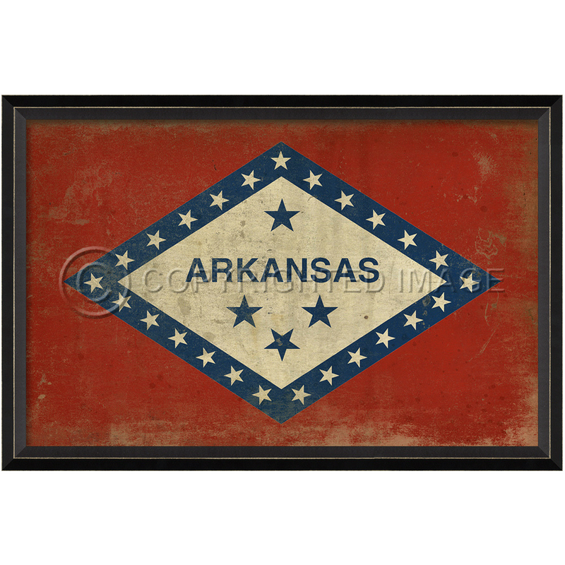 Arkansas State Flag Wall Art