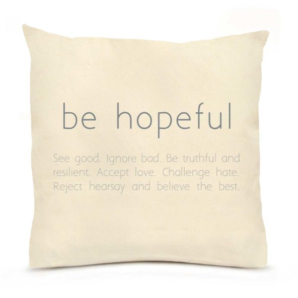 Lingowares by Eric & Christopher Be Hopeful Pillow