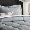 Woven Down Alternative Chambray Comforter Set in Birch