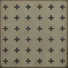 Vintage Vinyl Floorcloth Floor Cloth Family Friendly Pet Friendly Indoor Outdoor Safe Area Rug Greek Cross Square