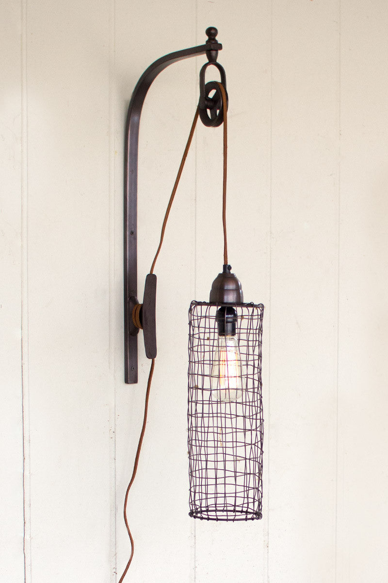 Valec Pulley Wall Sconce