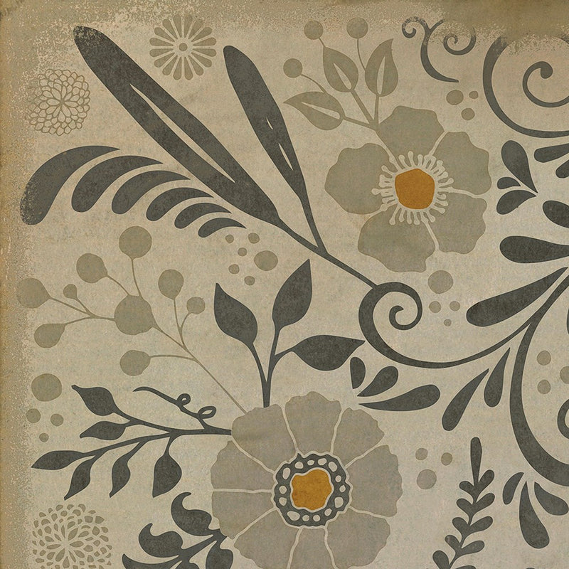 "Pattern 36 ""Common Sense"" Vinyl Floorcloth"