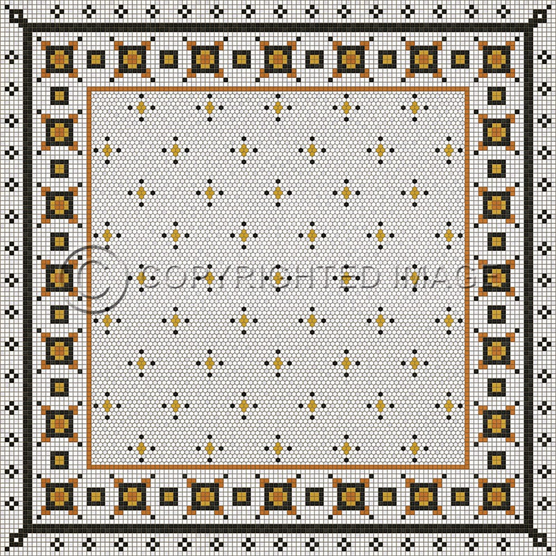 Lehigh Valley Furniture Flooring Vinyl Floorcloth Vintage Mosaic Tile Pet Safe Kid Friendly Rug Outdoor
