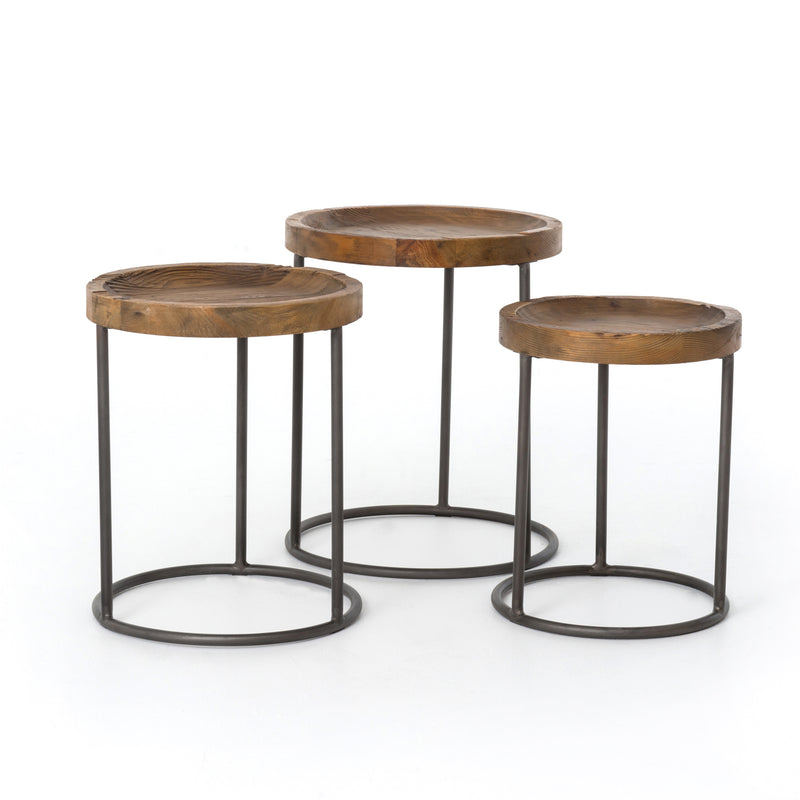 Tristan Nesting Tables-Bleached Pine