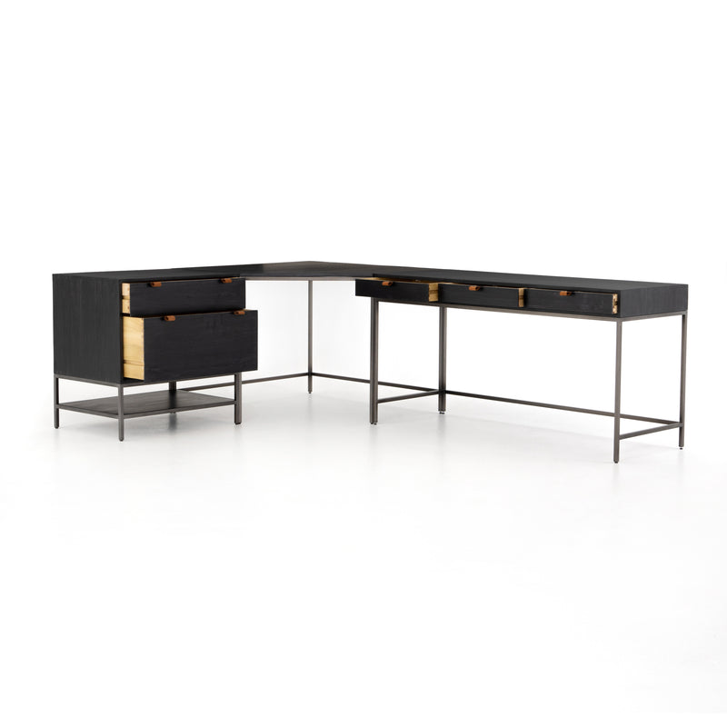 Trey Desk System with Filing System