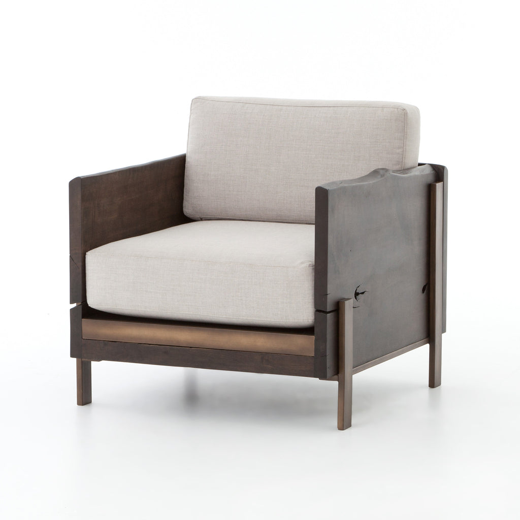 Woodrow Armchair-Dark Alder, Bennett Moon