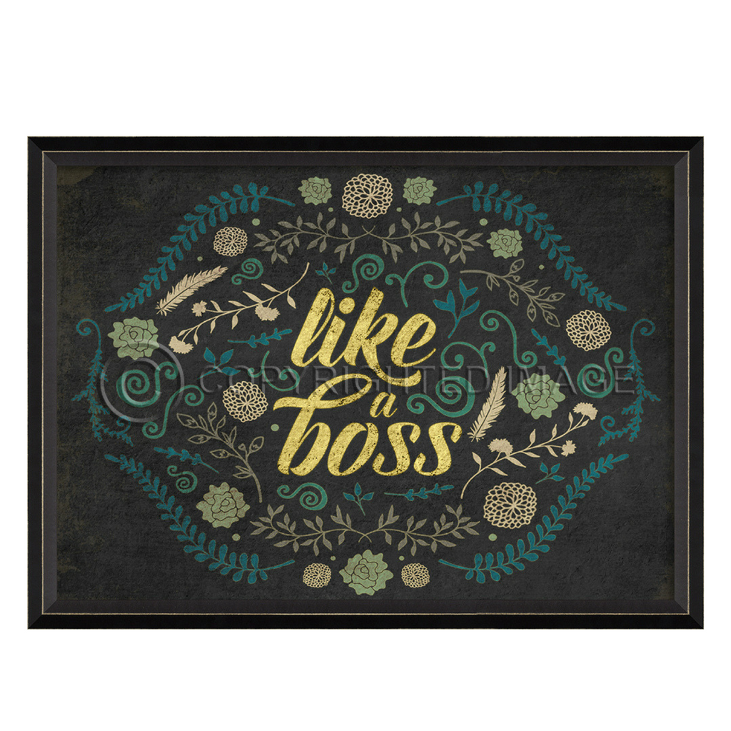 Happy Thoughts Wall Art: Like a Boss