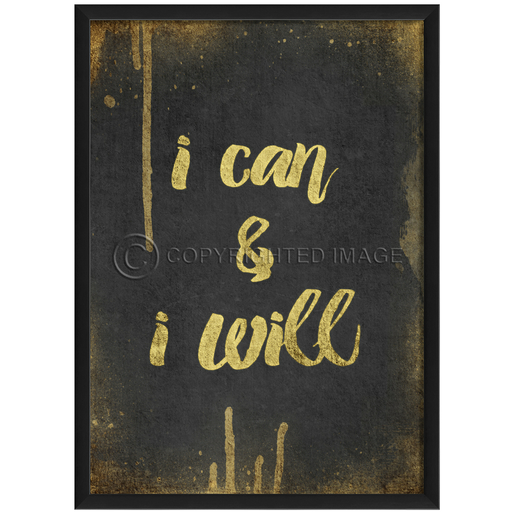 Happy Thoughts Wall Art: I Can