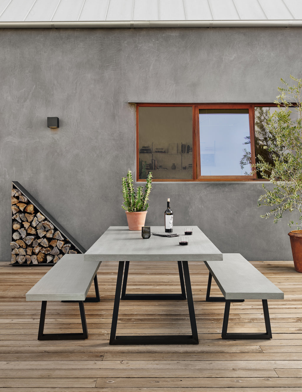 Cyrus Dining Table-79-Grey