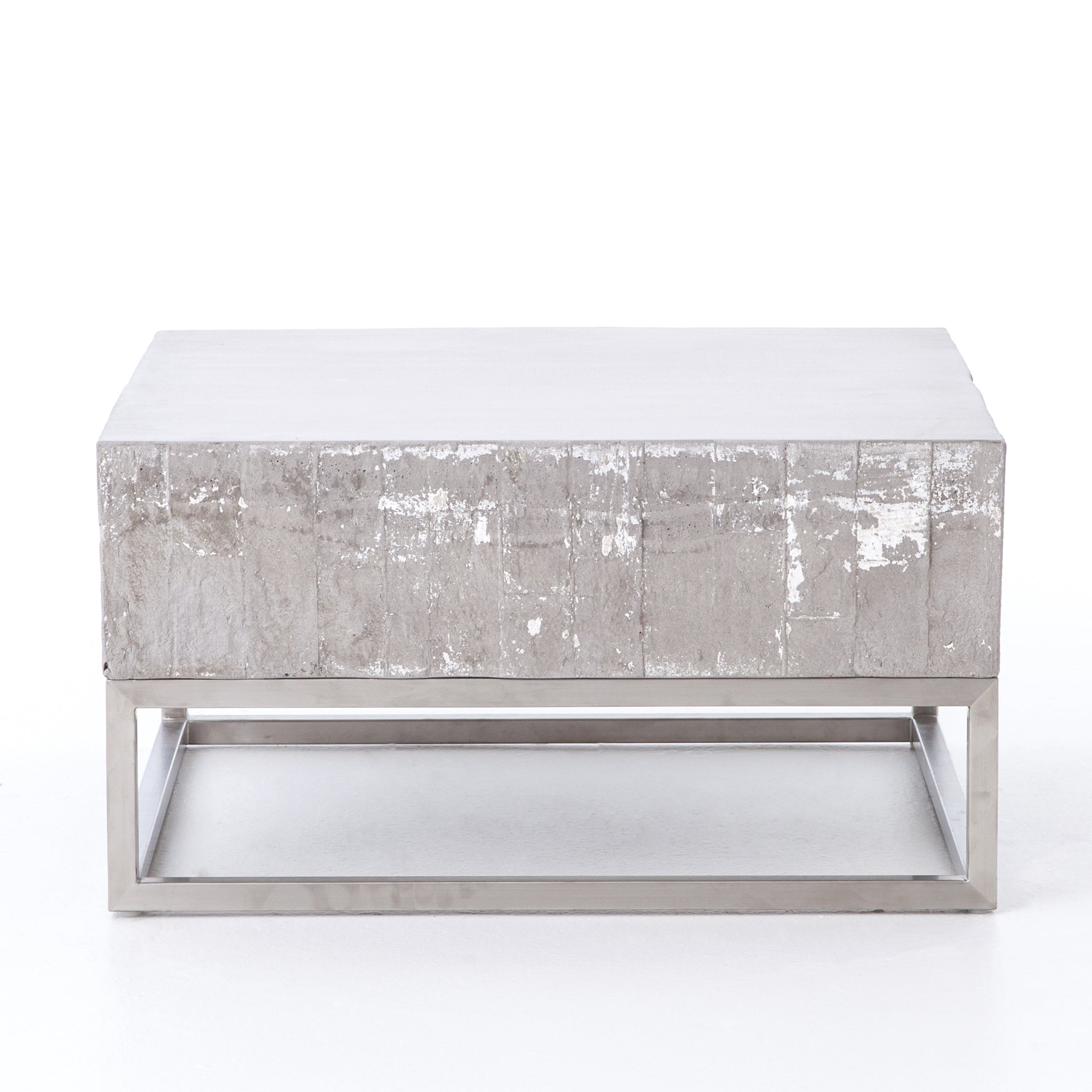 chrome coffee table. Concrete And Chrome Coffee Table