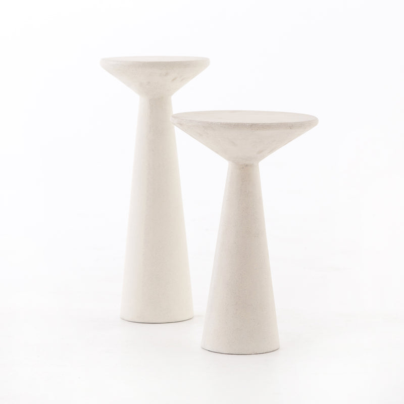 Ravine Concrete Accent Tables, Set Of 2