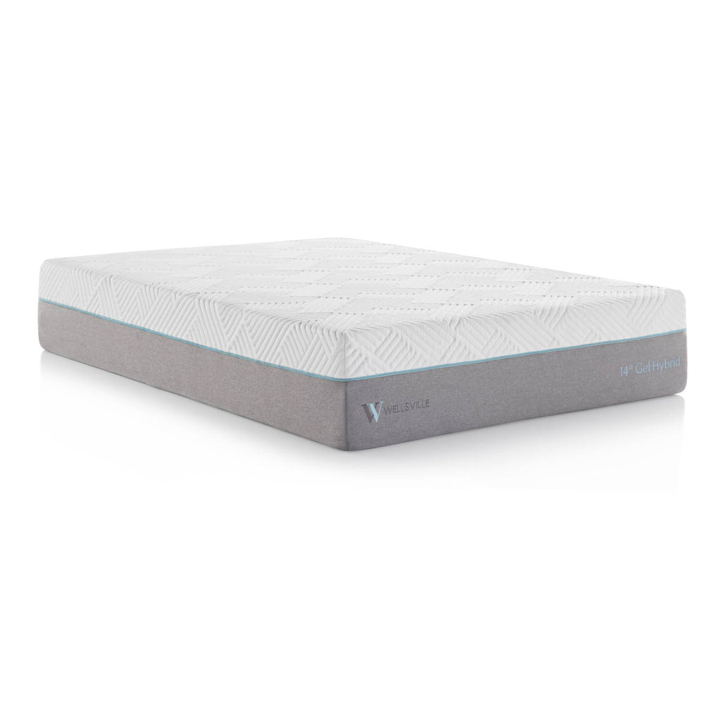 "Wellsville® 14"" Gel Memory Foam Innerspring Hybrid Mattress"