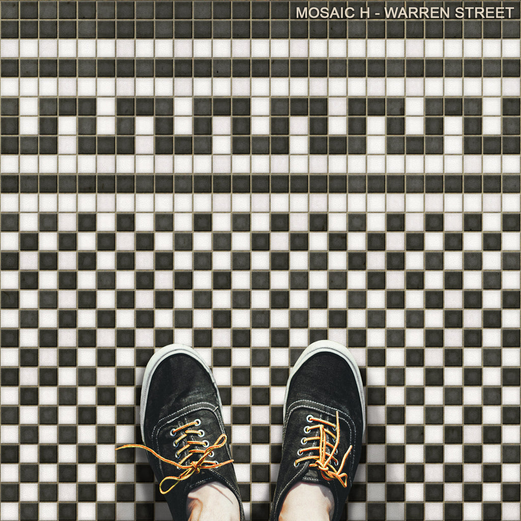 "Mosaic H ""Warren Street"" Vinyl Floorcloth"