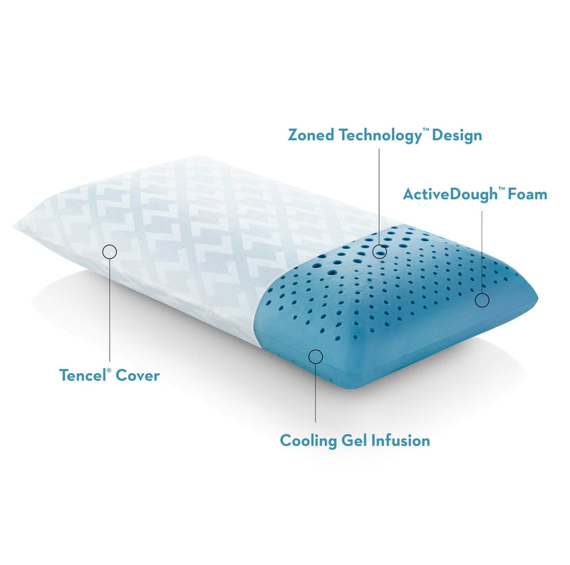 Zoned ActiveDough® + Cooling Gel Pillow