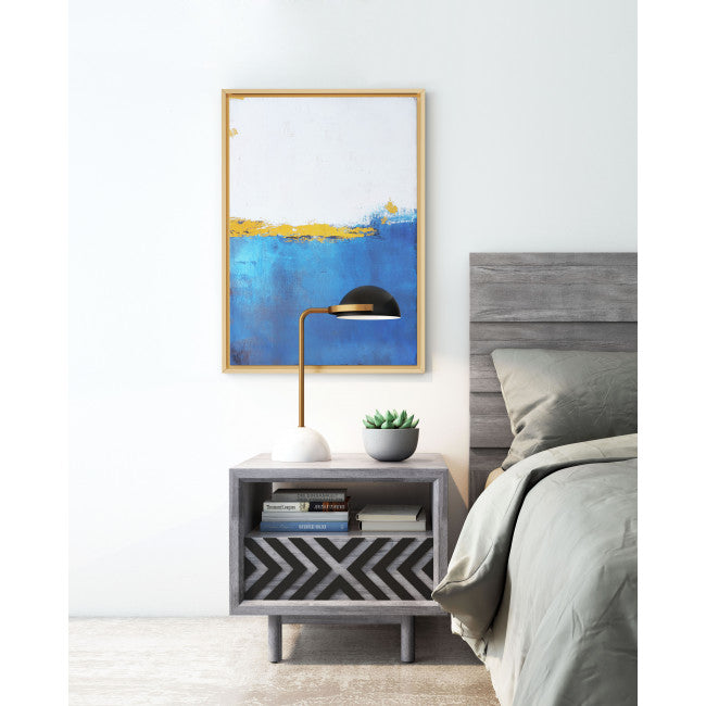 Azure's Blue Wave Wall Art