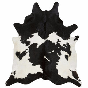 Natural Cowhide Rug in Black and White