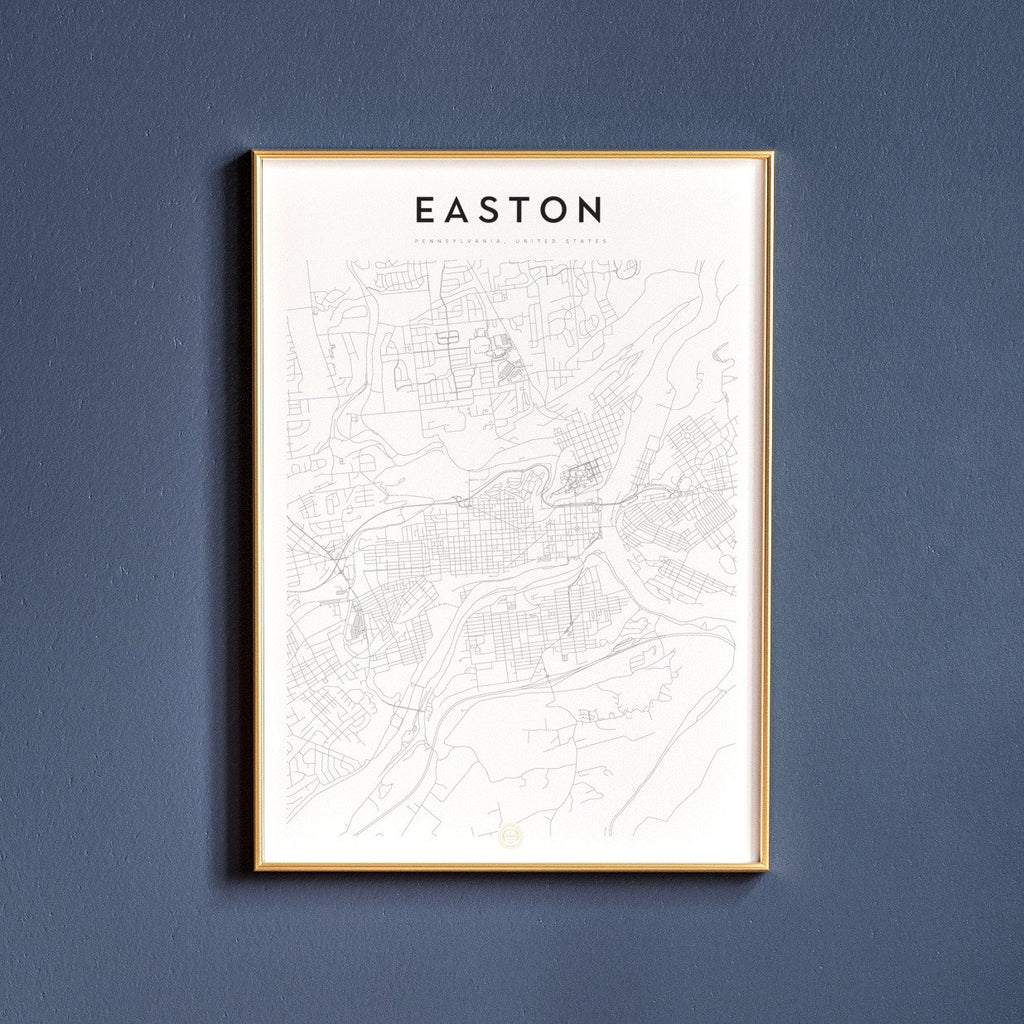 Easton, Pennsylvania Map