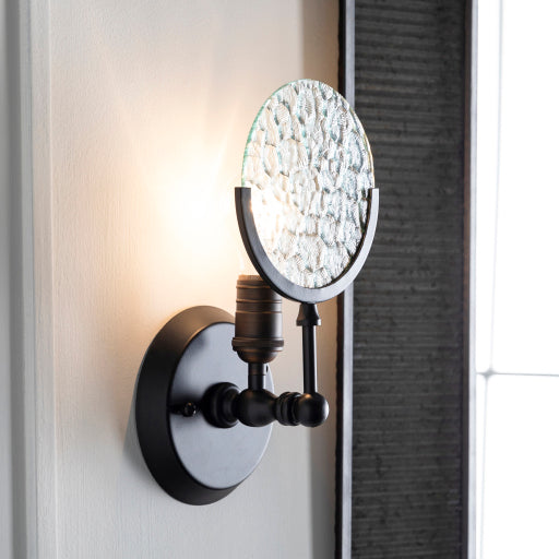 Monocle Wall Sconce Black