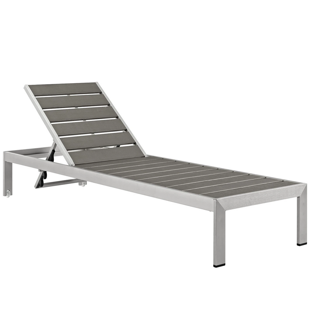 Seaside Heights Outdoor Faux Wood Chaise Lounge