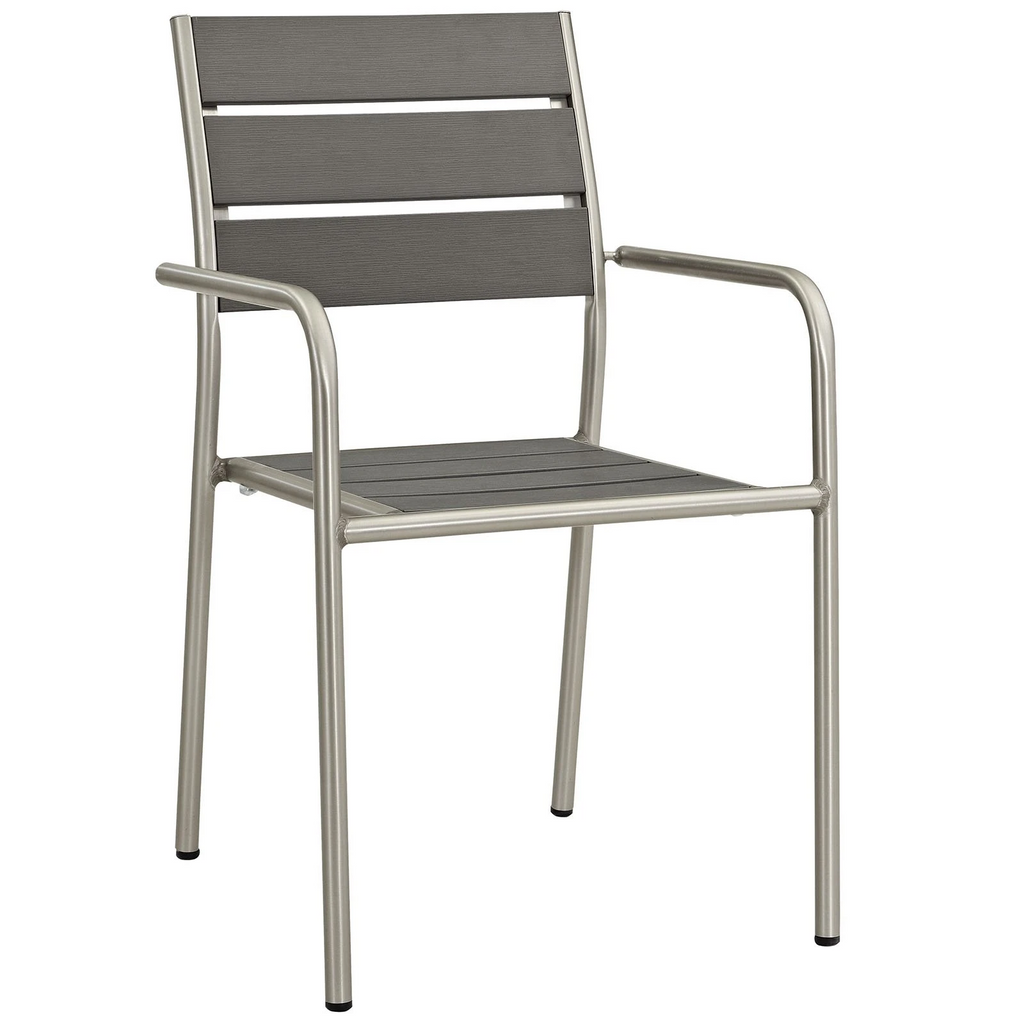 Seaside Heights Outdoor Faux Wood/Aluminum Armchair