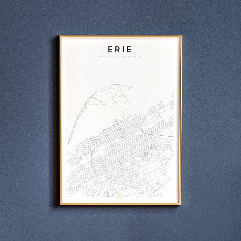 Erie, Pennsylvania Map