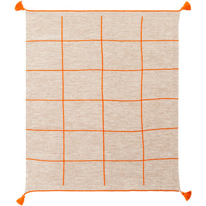Borla Burnt Orange Throw