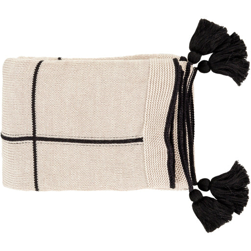 Borla Black Throw