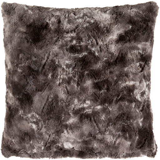 Sabrina Charcoal Faux Fur Pillow Cover