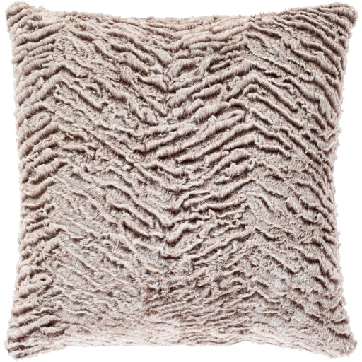 Sabrina Beige Faux Fur Pillow