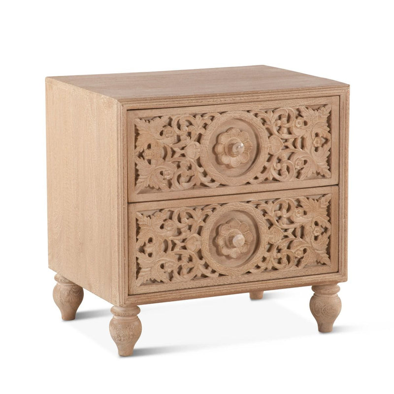 Rose Garden Carved Night Chest
