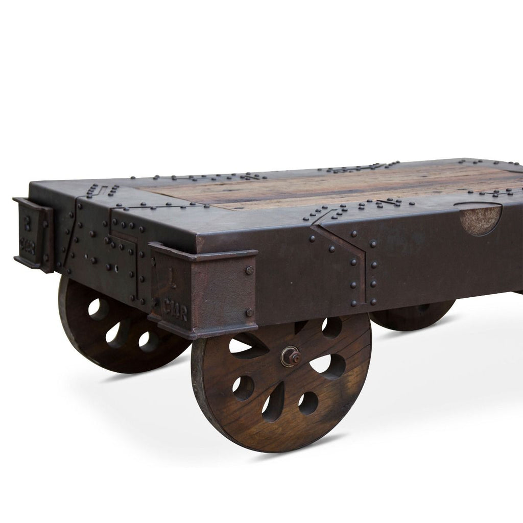 Cravey Industrial Cart Coffee Table
