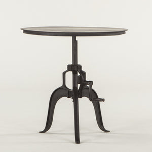 Hoover Mason Black Iron Crank Dining Table