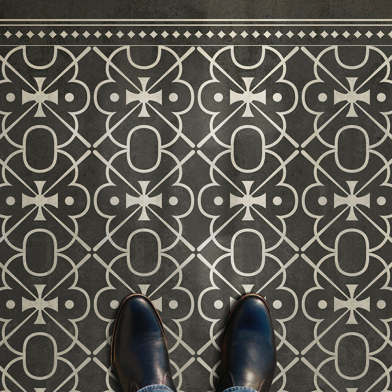 "Pattern 05 ""Moriarty"" Vinyl Floorcloth"