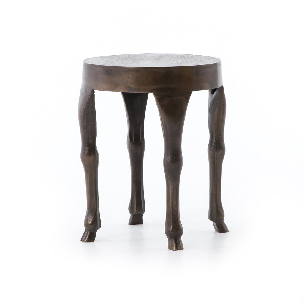 Hopedale End Table-Antique Rust