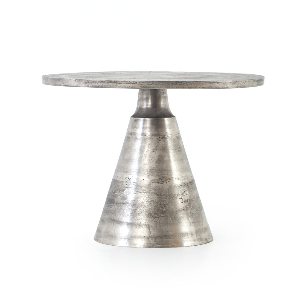 Mina Bistro Table-Raw Antique Nickel