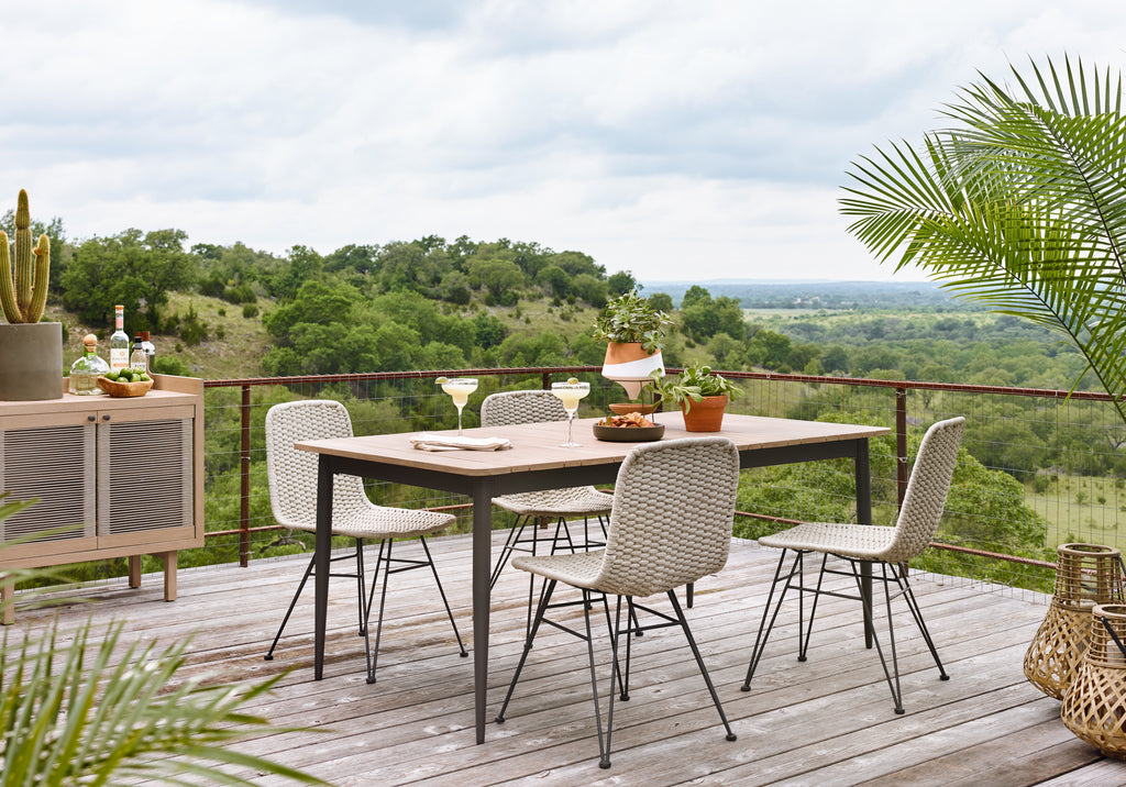 Dema Outdoor Dining Chair-Natural