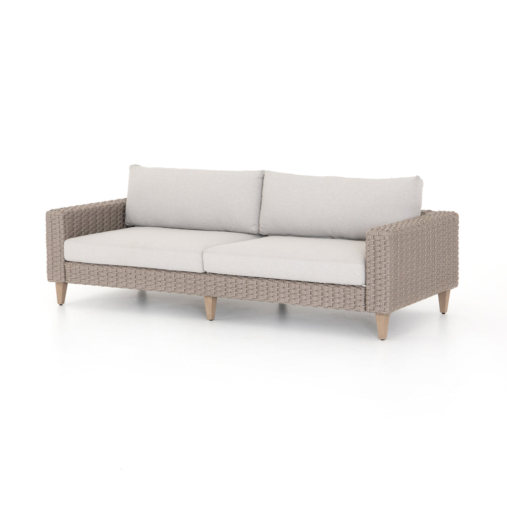 Remi Outdoor Sofa-90-Stone Grey
