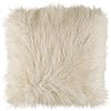 Mongol Cream Faux Fur Pillow