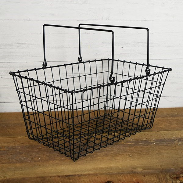 Black Wire Shopper's Basket