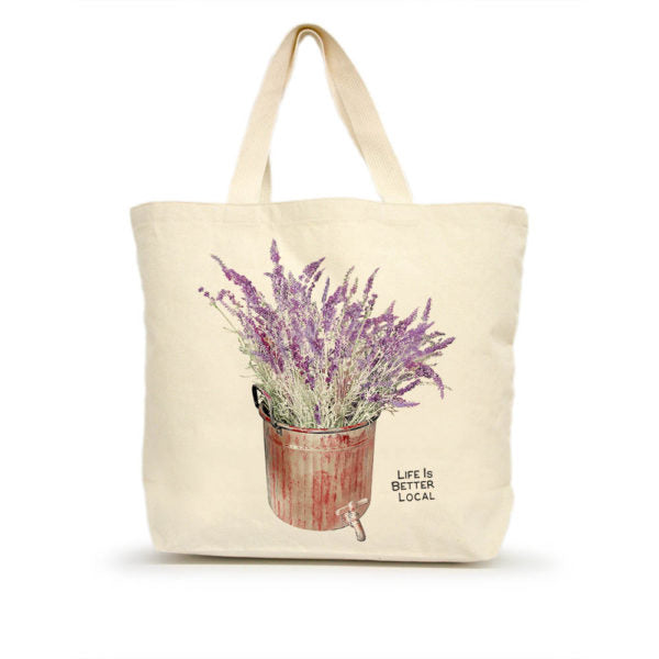 Life is Better Local by Eric & Christopher Lavender Tote