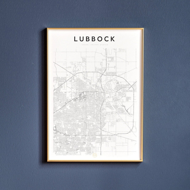 Lubbock, Texas Map