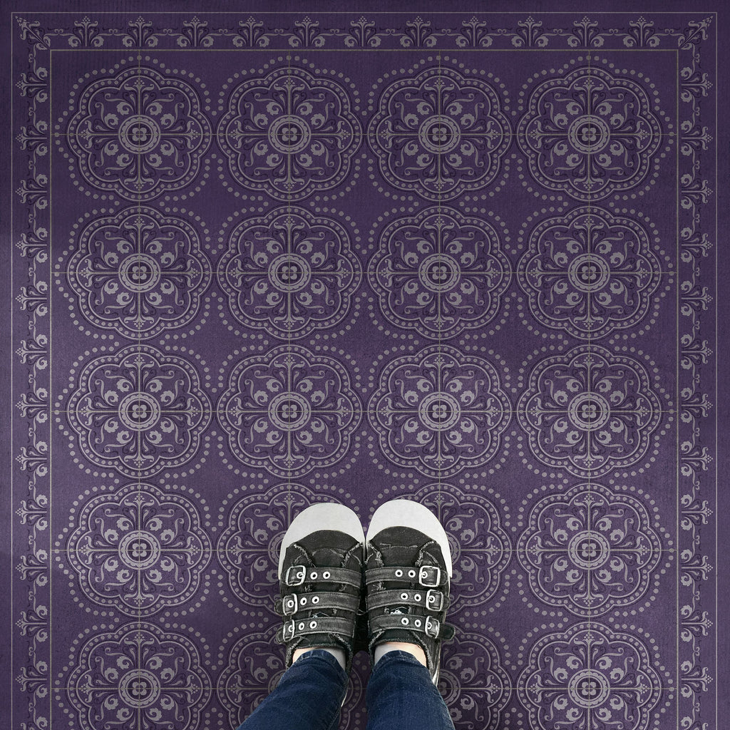 "Pattern 28 ""Purple Bandana"" Vinyl Floorcloth"