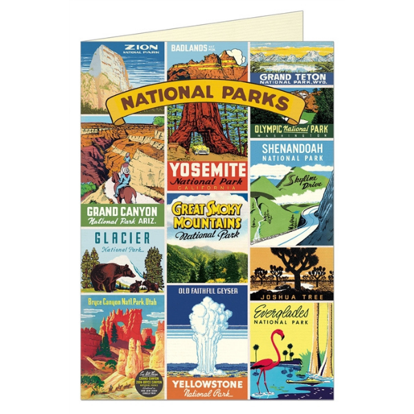 "Cavallini ""National Parks"" Greeting Card"