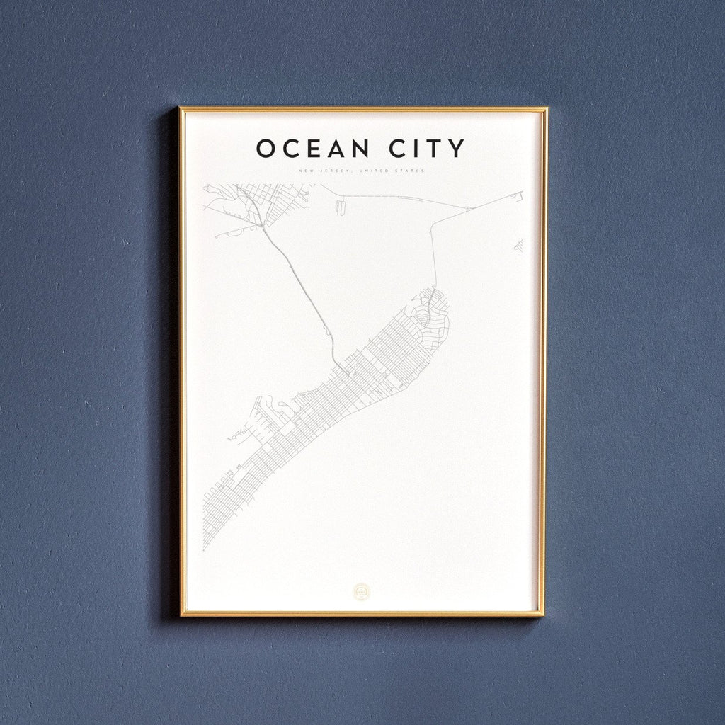 Ocean City, New Jersey Map